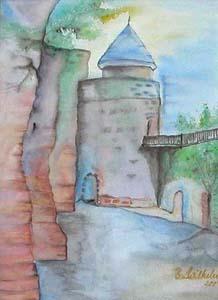 Innenhof Burg Nanstein